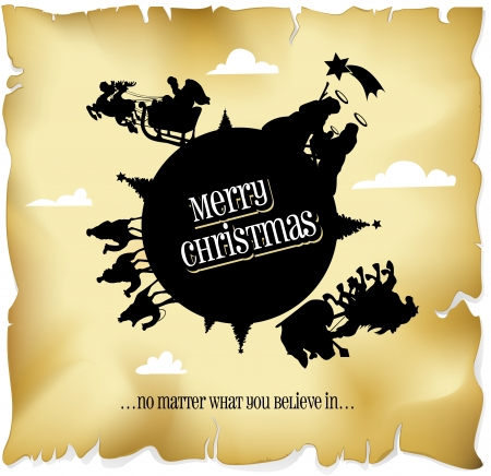 merry christmas everyone� no matter what you believe in... Vector