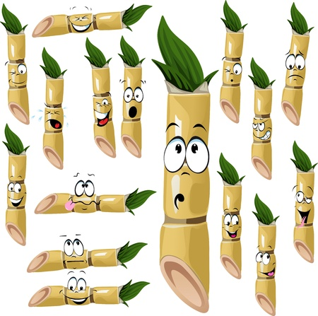 frown: sugarcane cartoon isolated on white background
