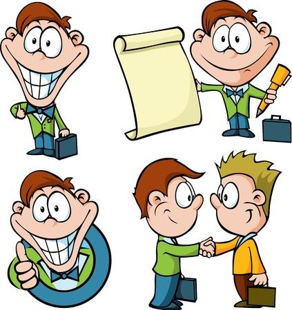 Geschäftsmann Cartoon auf weißem Hintergrund Standard-Bild - 20748933