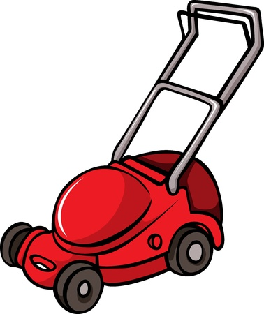Lawn Mower isolated on white background Stock Vector - 20748943