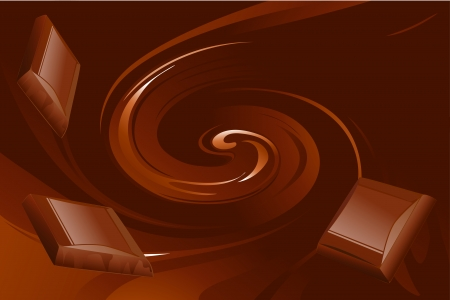 melted chocolate: abstract chocolate vector background