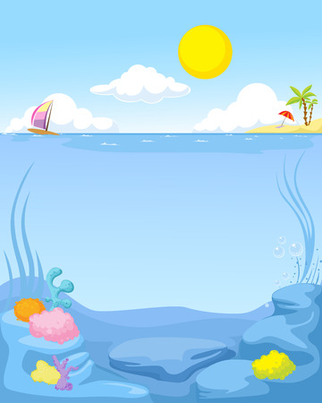 summer sea background - vector illustration Vector