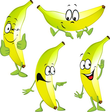 gesturing: banana cartoon isolated on white background