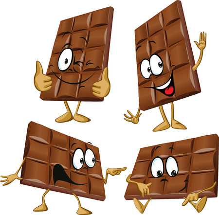 chocolate cartoon with hand gesturing