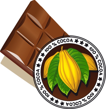 chocolate with seal of Quality - vector quality label Vector
