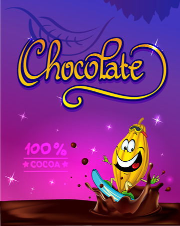 funny chocolate vector design Vector