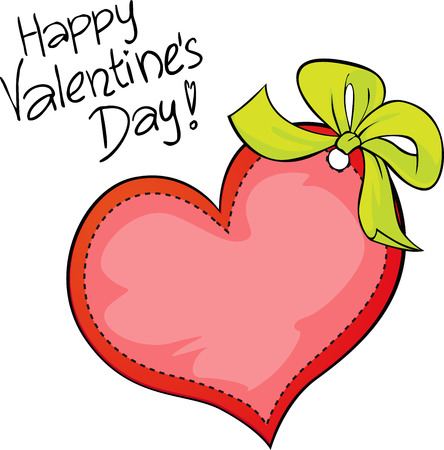 superscription: Happy Valentines day - freehand vector inscription