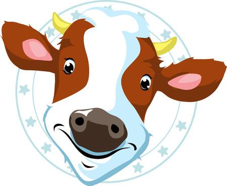 peek: cow stamp - vector illustration on white background