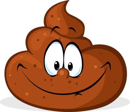 excrement: funny poo cartoon - vector illustration Illustration