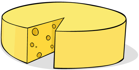 sliced cheese: sliced cheese - vector illustration