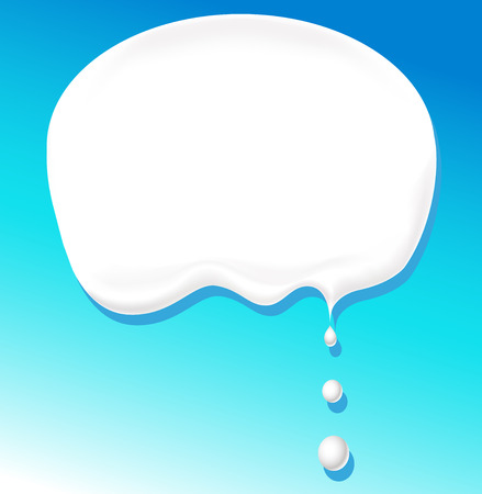 drinking milk: milk bubble for text - vector illustration