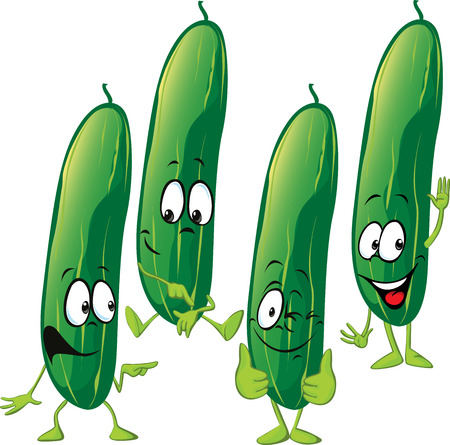 pepino caricatura: pepino - historieta divertida del vector