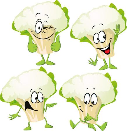 cauliflower - funny vector cartoon