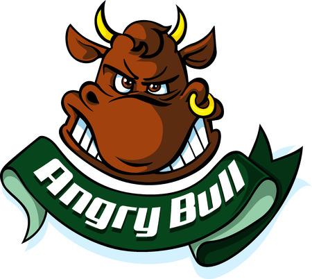 determination: Angry Bull head - Vector illustration