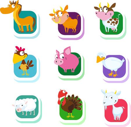 farm animal: farm animals - vector icon