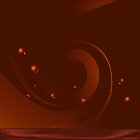 chocolate swirl: abstract vector chocolate swirl background