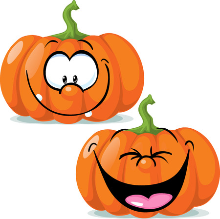 gourds: funny pumpkin character - vector illustration