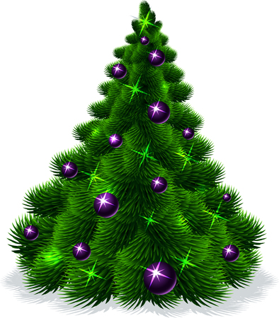 christmas tree illustration: Christmas tree isolated - vector illustration Illustration