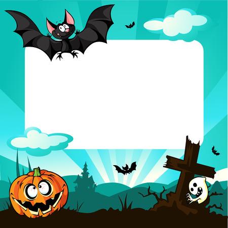 halloween frame - vector illustration Illustration