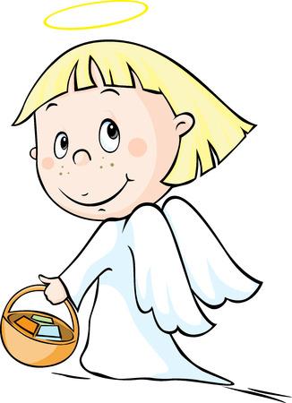 Angel - vector illustration isolated on white background.