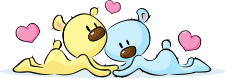 lying in: lying bears in love