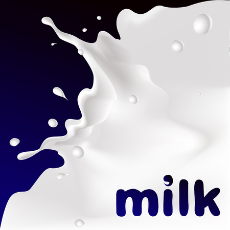 leaks: white splash milk illustration on dark violet background