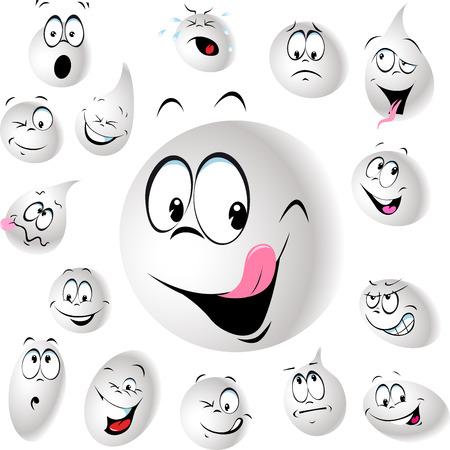 milk drop: grinning and smiling drop of milk - illustration