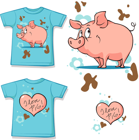 sleeve: pig short sleeve shirt