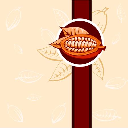 cocoa bean: cocoa bean design beige and brown - vector illustration Illustration