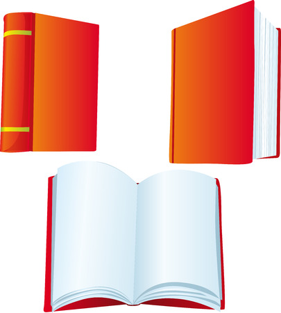 educated: red book illustration vector isolated on white background