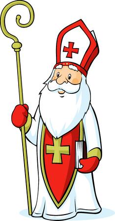 Saint Nicholas isolated on white background
