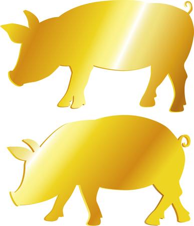 Golden pig symbol.