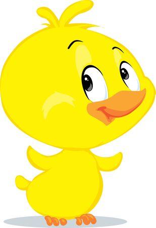 Cute  Easter Chicken Character Fflat Design Vector Illustration Cartoon Illustration