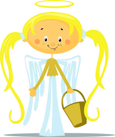 Angel - Vector Illustration Isolated on White Background