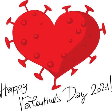 Valentines virus heart vector
