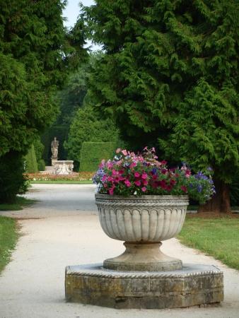 beautiful castle garden, castle Lednice - Historical Lednice - Valtick&amp,Atilde,&amp,iexcl, area. Czech Republic Stock Photo - 18372963