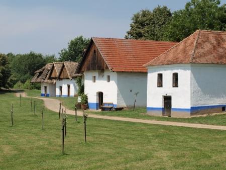 historic village construction , community nice , South Moravia   Czech Republic