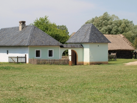 historic village construction , community nice , South Moravia . Czech Republic
