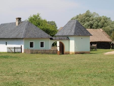historická vesnice konstrukce, obec pěkné, Jižní Morava. Česká republika Reklamní fotografie - 18679334