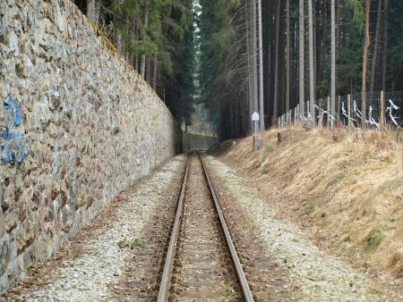 narrow gauge: unique historic narrow-gauge railway. South Bohemia