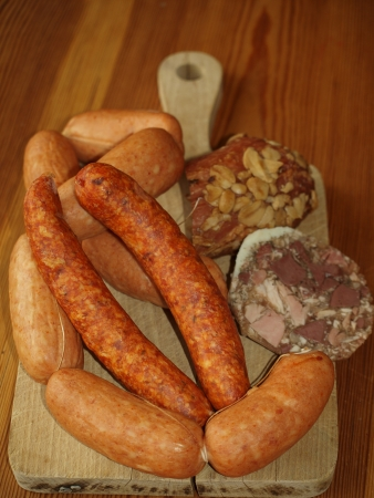 traditional smoked meat products   South Bohemia photo