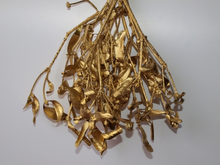 sculpt: Christmas golden mistletoe. South Bohemia Stock Photo