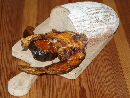 traditionally: Traditionally smoked fish , a loaf of bread   South Bohemia