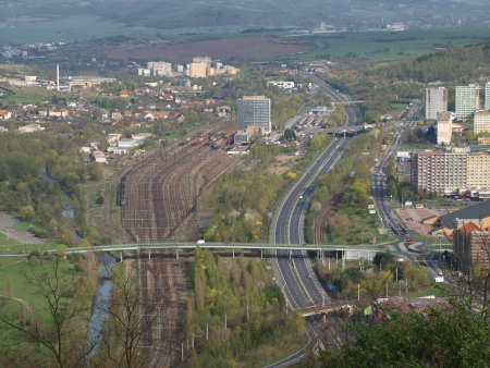 transport infrastructure of the city  northern Bohemia photo