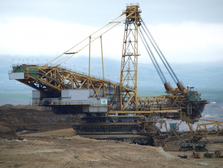 mining machine , surface coal mine   northern Bohemia Stock Photo - 20289247