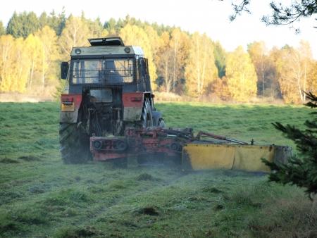 republik: Traditional dry grass, South Bohemia  czech republik