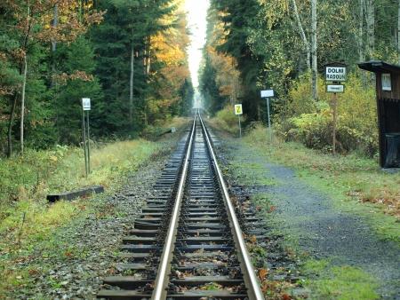 narrowgauge: unique historic narrow-gauge railway, South Bohemia  czech republik Stock Photo