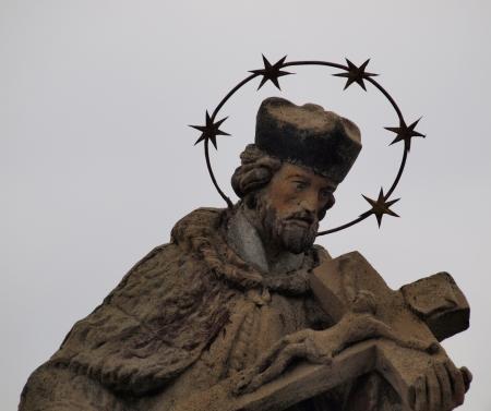 statue of the saint , southern Bohemia   Czech Republic