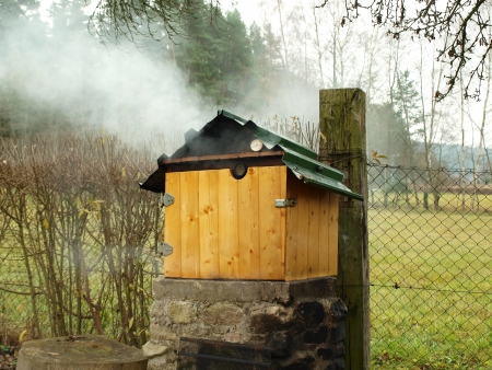 smokehouse , southern Bohemia   Czech Republic photo