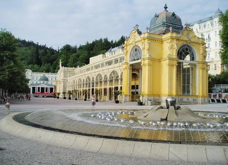 Lázeňská kolonáda, Mariánské Lázně Česká Republika Reklamní fotografie - 26592094